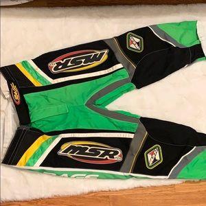 VINTAGE NEON GREEN MOTOCROSS PANTS